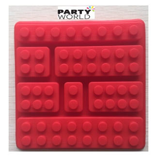 Square Lego Brick Silicone Mould - random colour
