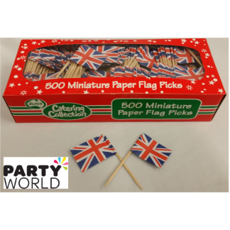 Union Jack Flag Picks (500)