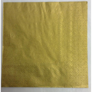 Gold Luncheon Napkins (20)