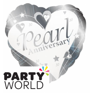Pearl - 30th Wedding Anniversary Foil Balloon