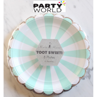 Meri Meri Toot Sweet Mint Side Plates (8pk)