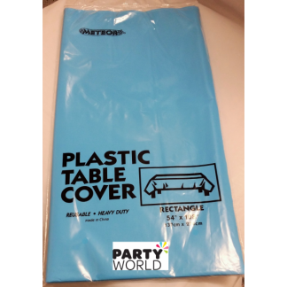 Electric Blue Plastic Tablecover