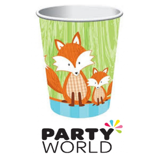 Forest Fox Paper Cups (8)