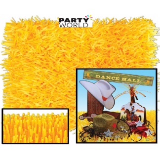 Golden Yellow Fringed Paper Grass Mats (2)