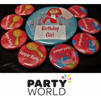 Birthday Girl and Pamper Party Badges (9)