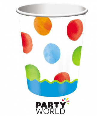 1st birthday blue dots cups