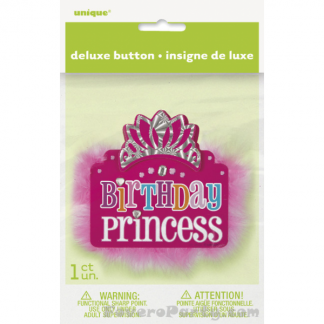 Birthday Princess Deluxe Button