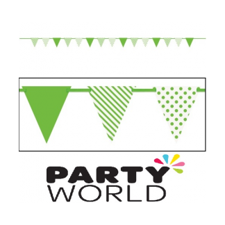 Lime Green Paper Bunting Flag Banner