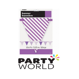 Purple Paper Bunting Flag Banner
