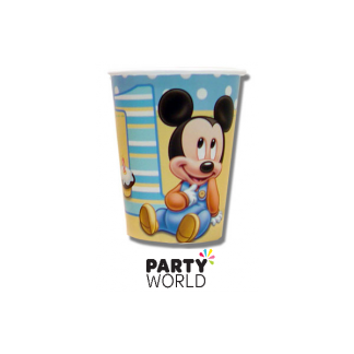 Mickey's 1st Birthday Cups (8)