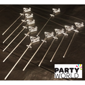 Electroplated Cocktail Picks - Martini Glasses (10)