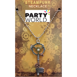 Steampunk Rhinestone Key Costume Necklace