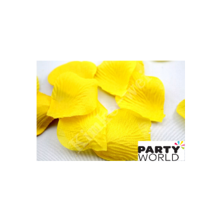 Artificial Silk Rose Petal Scatters - Yellow (*100)