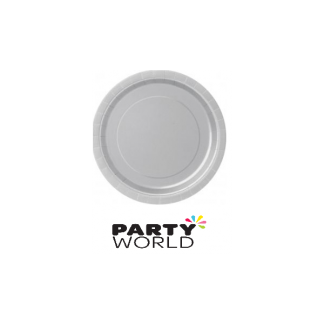 Silver Round Paper Plates 9in (8)