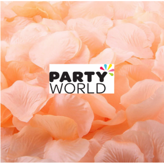 Artificial Silk Rose Petal Scatters - Peach (*100)