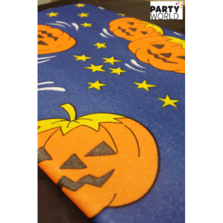 Pumpkin Halloween Airlaid PaperTable Cover - Square