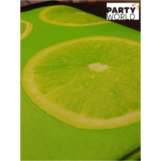 Lime Airlaid Paper Table Cover - Small