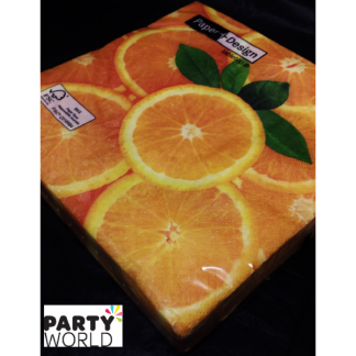 Fresh Orange Luncheon Napkins (20)