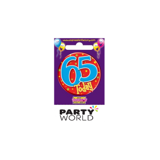 Party Badge - 65 Male