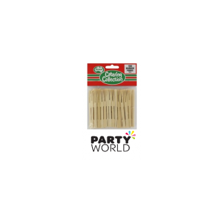 Bamboo Cocktail Forks (100) (9cm)