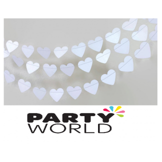White Heart Wedding Garland