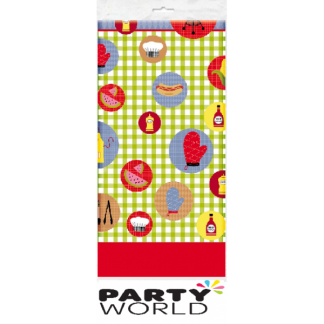 Barbeque Cookout Plastic Tablecover