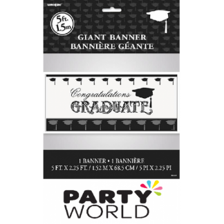 Simply Graduate Giant Wall Banner