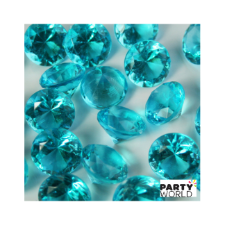 Teal Diamond Table Scatters - 1cm (50)