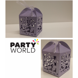 Rose Cage Favour Boxes (12) - LAVENDER