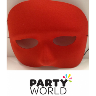 Male Plastic Red Half Face Mask