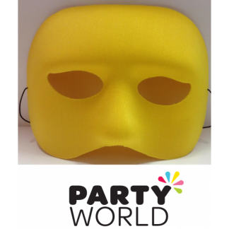 Male Plastic Yellow Half Face Mask