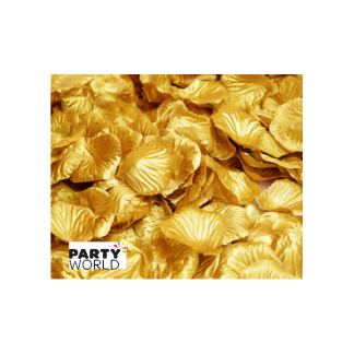 Artificial Silk Rose Petal Scatters - Gold (*100)
