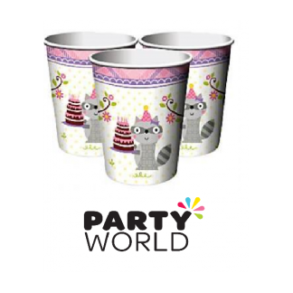 Happi Woodland Girl Paper Cups (8)