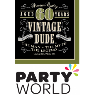 Vintage Dude 60th Napkins (16)