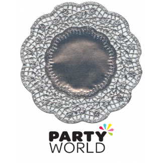 Silver Fancy Doilies (8)