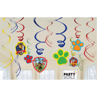 Paw Patrol Swirl Decorations (12)