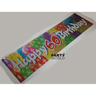 Happy 60th Birthday Foil Banner