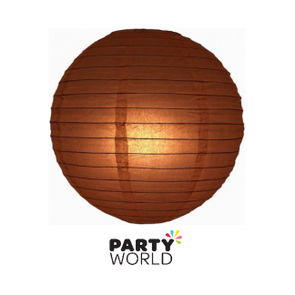 Paper Lanterns - Brown/Chocolate 12inch (3)