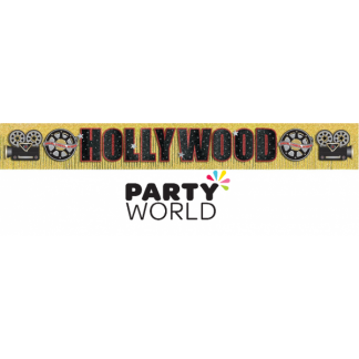 Giant Hollywood Glitter Fringe Banner