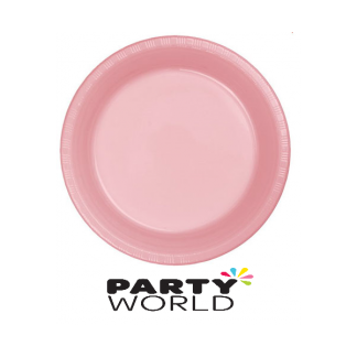 "Lovely Pink 9"" Plastic Plates (25)"