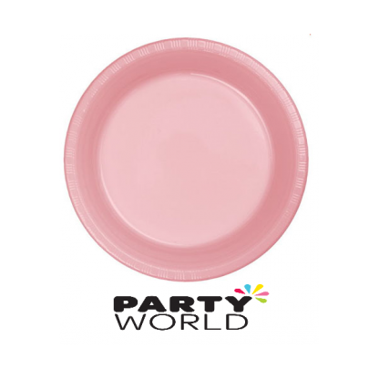 """Lovely Pink 9"""" Plastic Plates (25)"""