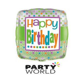 Citrus Dot Birthday Foil Balloon