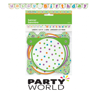 Citrus Dot Birthday Jointed Banner