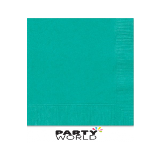 Caribbean Teal Luncheon Napkins (50)