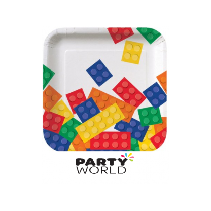 Lego Block Party Square Paper Plates 7inch (8)