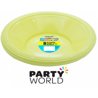 Soft Yellow 7in Plastic Bowls (8)