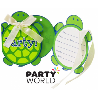 Mr. Turtle Party Invitations & Envelopes (8)