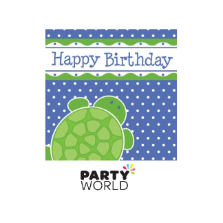 Mr. Turtle 'Happy Birthday' Luncheon Napkins (16)
