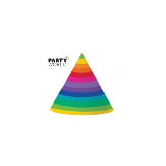 Rainbow Party Hats (8)