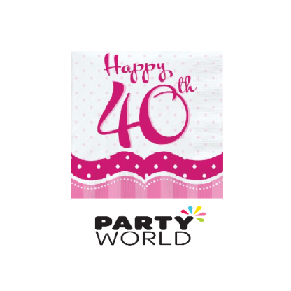 Perfectly Pink 40th Luncheon Napkins (18)